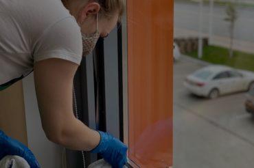Мытье окон в офисе UDS GROUP в БЦ«ПАРУС PLAZA», Ижевск